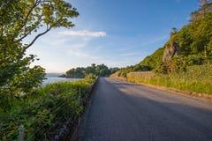 Vista del castello di Dunollie da Oban Fotografia Stock Libera da Diritti