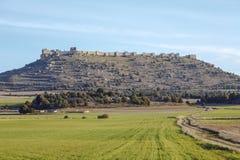 Vista del castello di Gormaz a Soria, Spagna Fotografie Stock