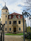 Vista del castello di Hermsdorf fotografia stock libera da diritti