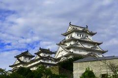 Vista del castello di Himeji, Giappone Patrimonio mondiale dell'Unesco e tesoro nazionale immagine stock libera da diritti