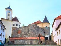 Vista del castello di Mukachevo (Ucraina) Fotografie Stock