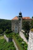 Vista del castello di Pieskowa Skala Immagini Stock