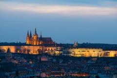 Vista del castello di Praga Fotografia Stock