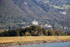 Vista del castello di Vaduz, Lichtenstein Fotografia Stock Libera da Diritti