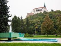 Vista del castello e del parco Immagini Stock