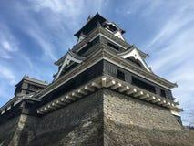 Vista del castello del Kumamoto nel Giappone immagine stock