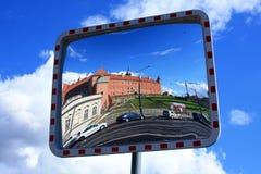 Vista del castello reale a Varsavia Fotografie Stock Libere da Diritti