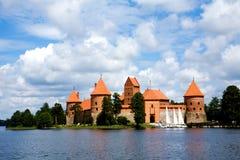 Vista del castello Trakai di beautifu Fotografia Stock