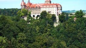 vista del castello Zamek Ksiaz video d archivio