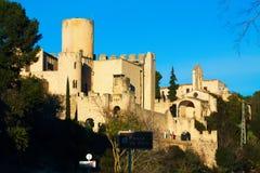 Vista del castillo de Castellet Imágenes de archivo libres de regalías