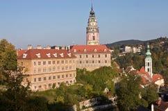 Vista del castillo de Cesky Krumlov Imagenes de archivo