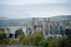 Vista del castillo de Conwy Foto de archivo