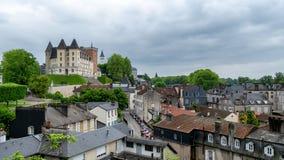 Vista del castillo de la ciudad de Pau en Francia fotografía de archivo