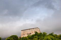 Vista del castillo de Polcenigo Foto de archivo libre de regalías