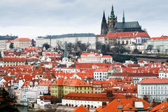 Vista del castillo de Praga Fotografía de archivo