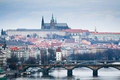 Vista del castillo de Praga Fotos de archivo libres de regalías