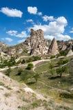 Vista del castillo de Uchisar en Cappadocia Imágenes de archivo libres de regalías