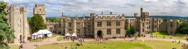 Vista del castillo de Warwick Fotografía de archivo libre de regalías