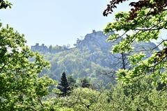 Vista del castillo del sintra Foto de archivo