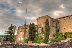 Vista del castillo del St Giusto, Trieste Imágenes de archivo libres de regalías
