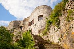 Vista del castillo del St Servolo Imagen de archivo libre de regalías