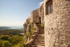 Vista del castillo del St Servolo Fotografía de archivo