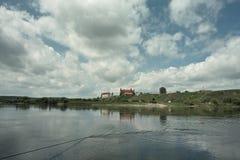 Vista del castillo en Gniew Foto de archivo libre de regalías