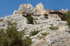 Vista del castillo en Kalekoy, Kekova. Imagen de archivo libre de regalías