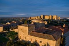 Vista del castillo en Trujillo (España) Fotografía de archivo libre de regalías