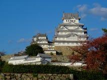 Vista del castillo maravilloso de Himeji en Jap?n foto de archivo