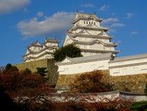 Vista del castillo maravilloso de Himeji en Jap?n imagen de archivo