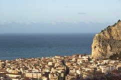Vista del Cefalu Foto de archivo