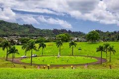 Vista del cementerio hawaiano en el valle de templos fotos de archivo libres de regalías