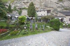 Vista del cementerio del ` s de San Pedro Imagenes de archivo
