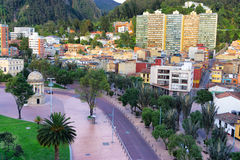 Vista del cennter de Bogotá Imágenes de archivo libres de regalías