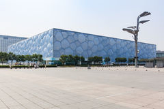 Vista del centro acquatico nazionale, cubo dell'acqua, di Pechino fotografia stock