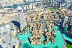 Vista del centro commerciale del Dubai. Immagini Stock
