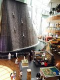 Vista del centro commerciale del Dubai fotografia stock
