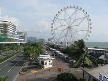 Vista del centro commerciale dell'occhio dell'Asia, metropolitana Manila, Filippine fotografie stock