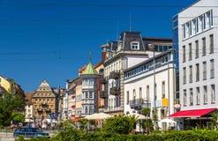 Vista del centro de ciudad de Constanza, Alemania imagen de archivo