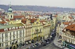 Vista del centro de ciudad de Praga Fotos de archivo