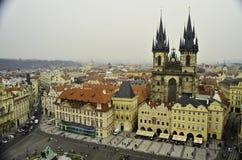 Vista del centro de ciudad de Praga Imagen de archivo