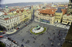 Vista del centro de ciudad de Praga Imagenes de archivo