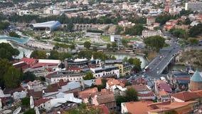 Vista del centro de ciudad Tbilisi georgia almacen de video