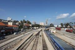 Vista del centro de la ciudad de Haifa imágenes de archivo libres de regalías