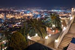 Vista del centro de la ciudad del monte Carmelo en Haifa en Israel Fotografía de archivo