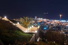 Vista del centro de la ciudad del monte Carmelo en Haifa en Israel Imagen de archivo libre de regalías