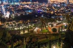 Vista del centro de la ciudad del monte Carmelo en Haifa en Israel Fotos de archivo