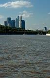 Vista del centro de negocios, Moscú Imagen de archivo libre de regalías
