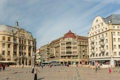Vista del centro del centro storico della città di Timisoara Immagini Stock Libere da Diritti